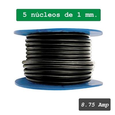 Cable multipolar de 5 núcleos 1 mm²