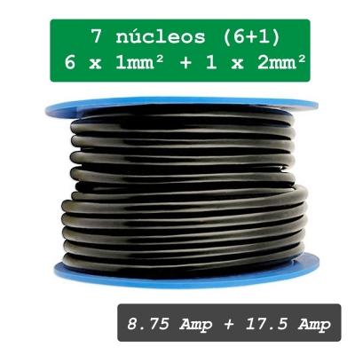 Cable de remolque 7 polos. 1mm² y  2mm²