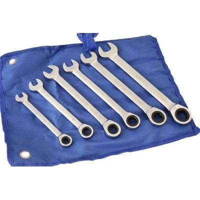 Llaves combinadas con carraca fija, 6 piezas