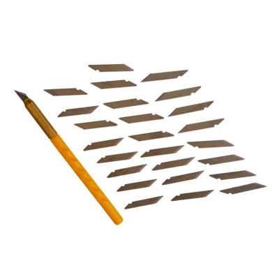 Bisturi de precisión con 25 hojas.