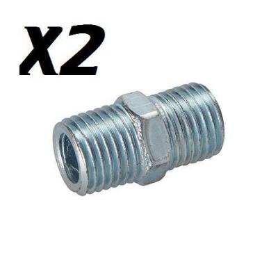 Conector con doble rosca neumático. 2 pz.