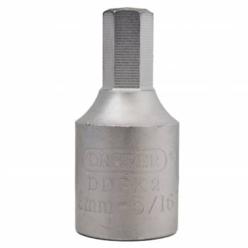"Llave vaso para carter 3/8"" hexagonal 8 mm."