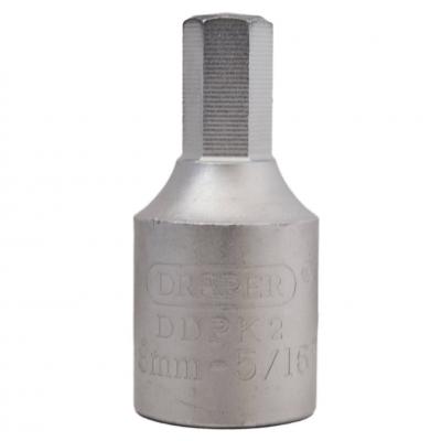 """Llave vaso para carter 3/8"""" hexagonal 8 mm."""