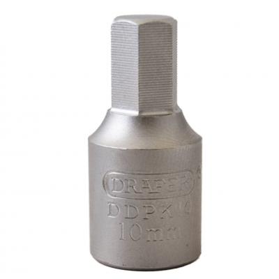 """Llave vaso para carter 3/8"""" hexagonal 10 mm."""