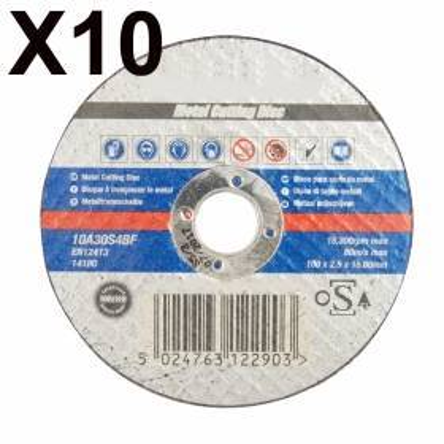 10 Discos de corte para metal, 100 MM.