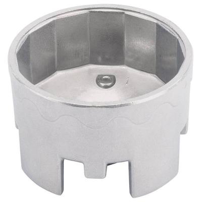 Cazoleta para filtros de aceite. 74 mm. 14 caras