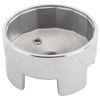 Cazoleta para filtros de aceite. 74 mm. 14 caras. Alta