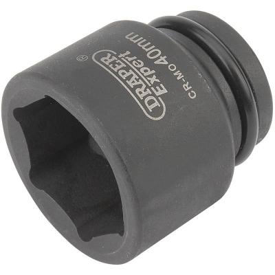 """Llave de vaso de impacto de 40 mm. 3/4"""". Hexagonal"""