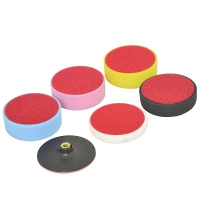 Kit 6 piezas de esponjas para pulido. 150 mm.