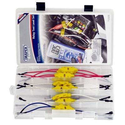Kit de cables para testear relés. 13 piezas.