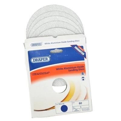 Discos de lijado autoadhesivos 150 mm. Óxido de aluminio blanco de grano 60