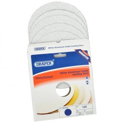 Discos de lijado autoadhesivos 150 mm. Óxido de aluminio blanco de grano 120