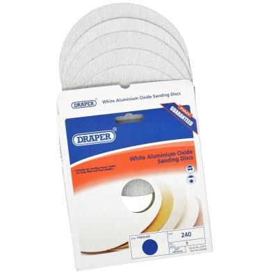 Discos de lijado autoadhesivos 150 mm. Óxido de aluminio blanco de grano 240