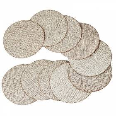 10 discos de lijado de 75 mm. con velcro. Grano 600