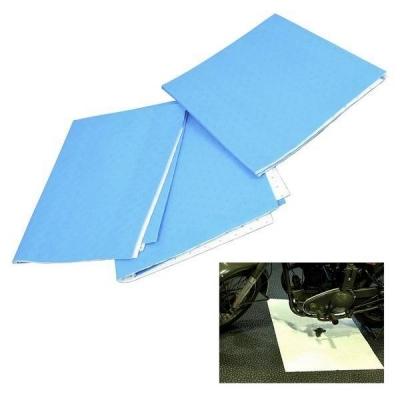 Pack de 3 mantas absorventes para derrames de aceite. 100 x 80 cm.