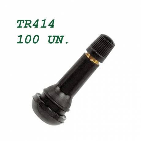 Válvula TR-414 de goma. Neumático Tubeless