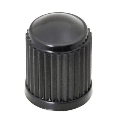 Tapones para válvula de plástico. Color negro