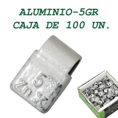 Contrapesa tipo clip para llanta de aluminio. 5 gramos