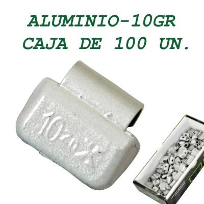 Contrapesa tipo clip para llanta de aluminio. 10 gramos
