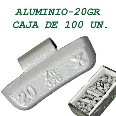 Contrapesa tipo clip para llanta de aluminio. 20 gramos