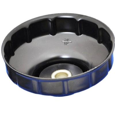 Cazoleta para filtros de aceite. 76 mm. 12 caras