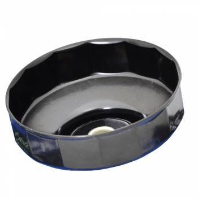 Cazoleta para filtros de aceite. 80 mm. 14 caras