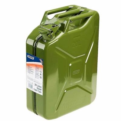 Bidon de gasolina de acero Jerrycan. 20 Litros