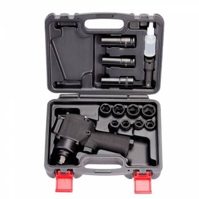 """Pistola de impacto con vasos. Super compacta. 610 Nm. 1/2"""""""
