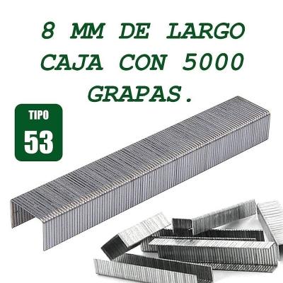5000 Grapas tipo 53 de 8 MM de largo