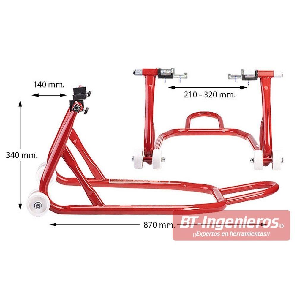 08cf0029 Caballete trasero para moto; Dimensiones del caballete para rueda trasera  de moto ...